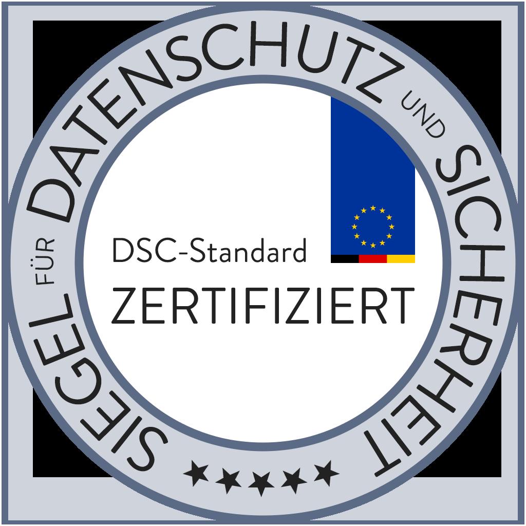 Siegel für Datenschutz und Sicherheit: DSC-Standard zertifiziert